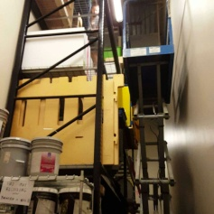 Moving materials to better storage areas.